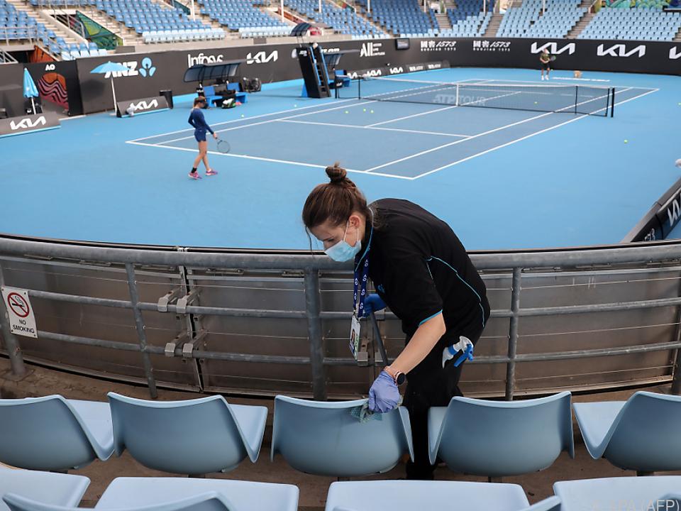 Vorbereitungen auf die Australian Open laufen
