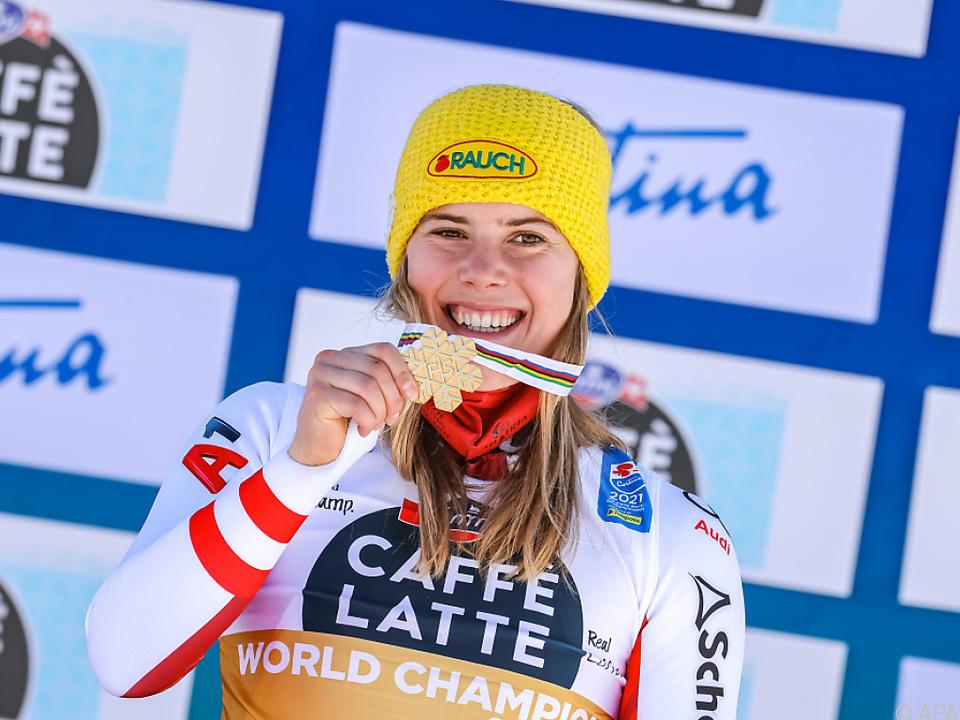 Zweite Goldene für Liensberger bei Cortina-WM