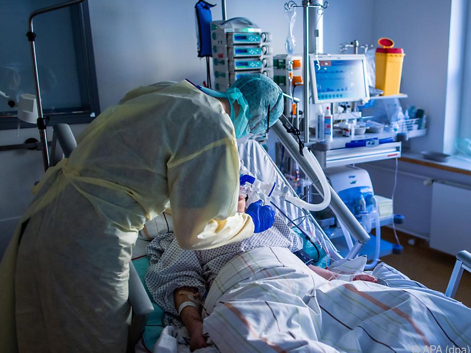 331 Covid-19-Erkrankte lagen am Montag auf Intensivstationen