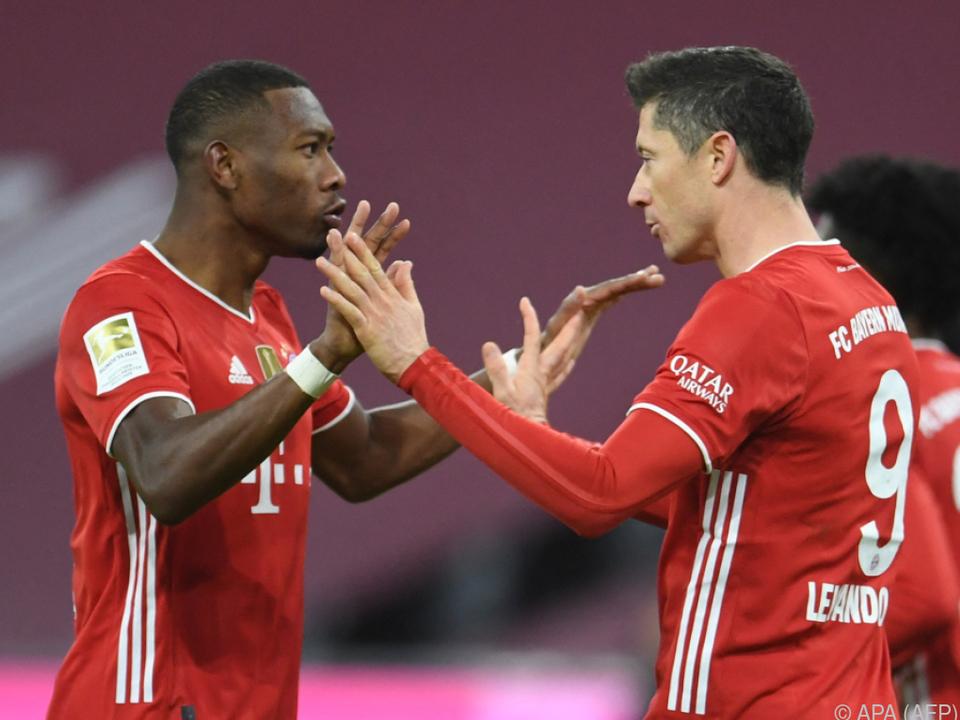 Alaba und Lewandowski jubelten über Bayerns CL-Aufstieg
