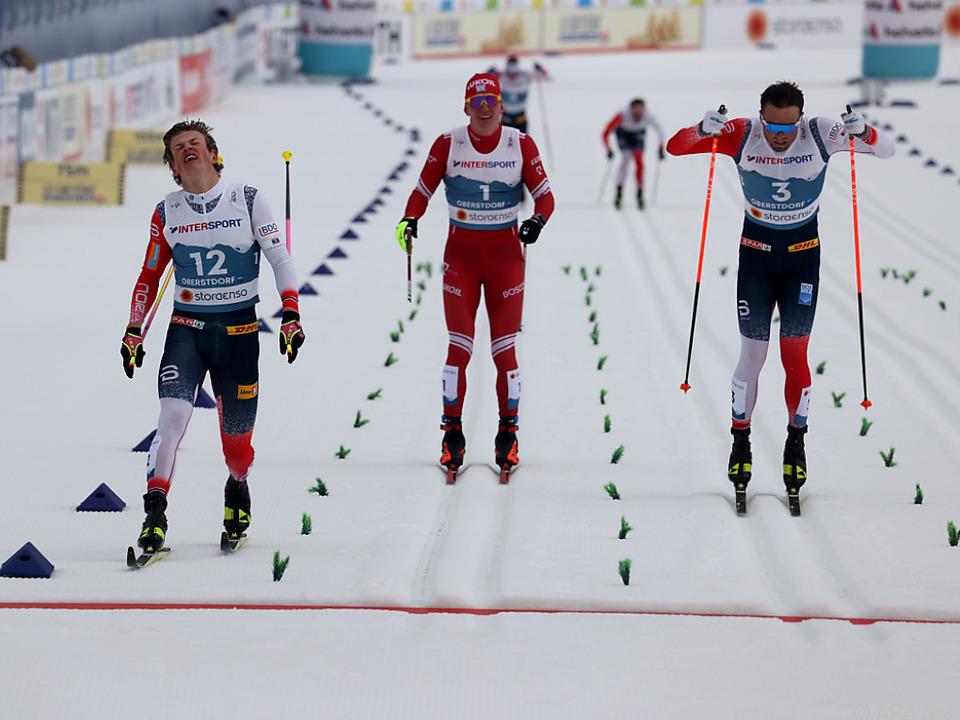 Als Erster im Ziel wurde Kläbo disqualifiziert - 50 km-Gold an Iversen
