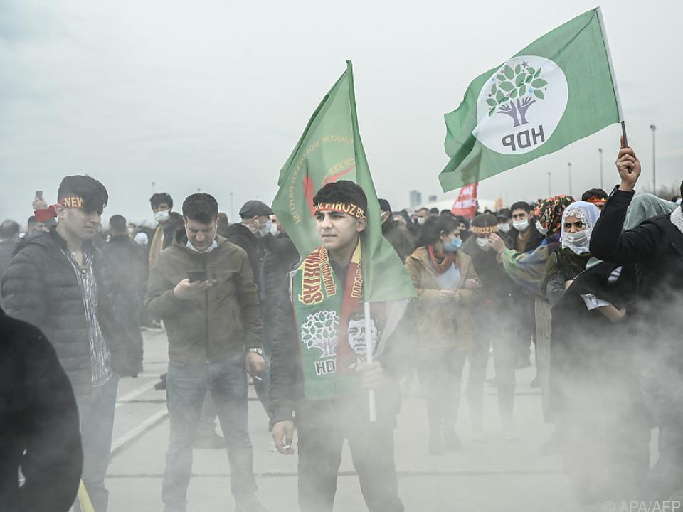 Anhänger der HDP in Istanbul