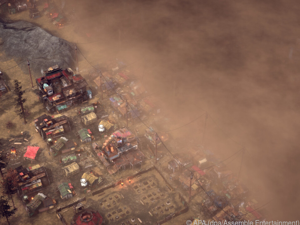 Sandsturm im Anmarsch. Jeder Fortschritt ist ständig in Gefahr