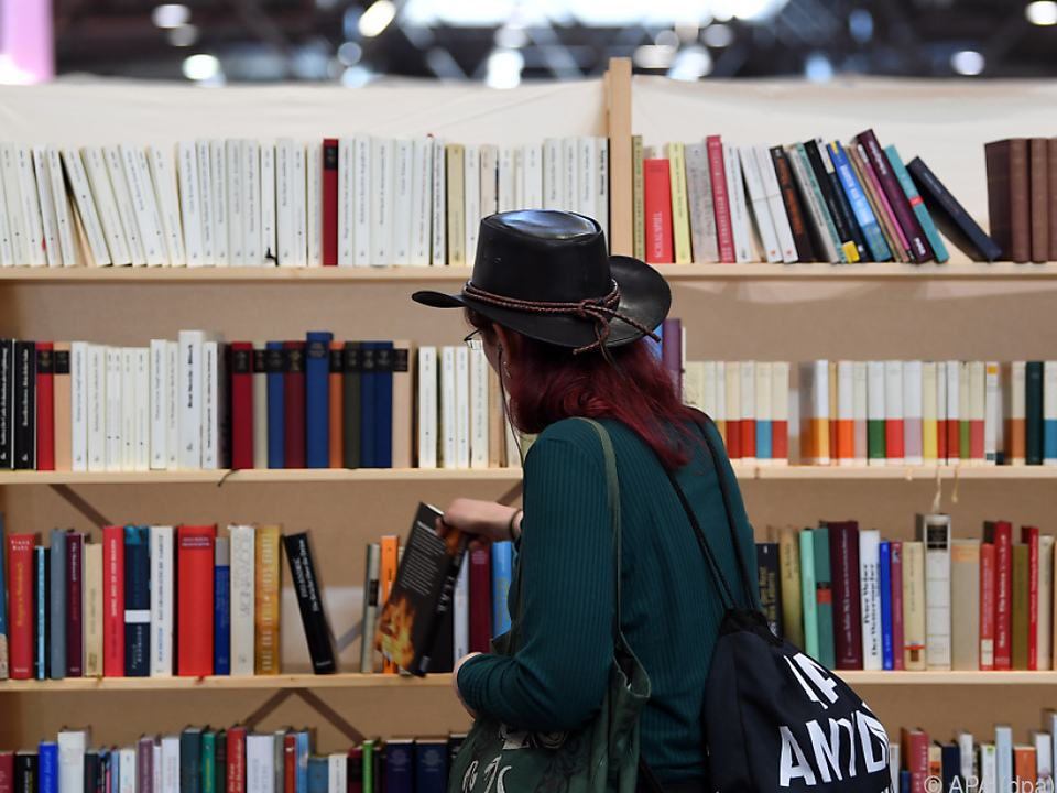 Besucherin der Leipziger Buchmesse