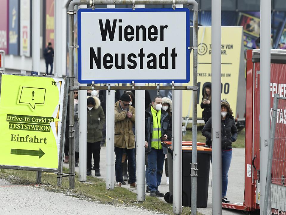 Bezirk Wiener Neustadt derzeit am schwersten von Covid betroffen