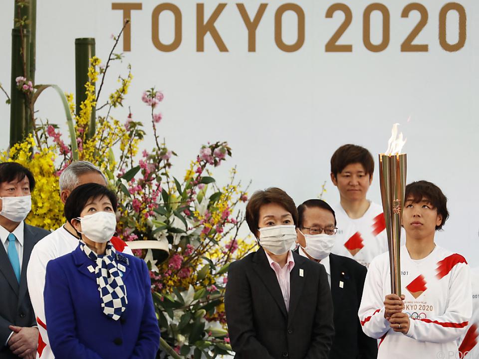 Das olympische Feuer ist unterwegs