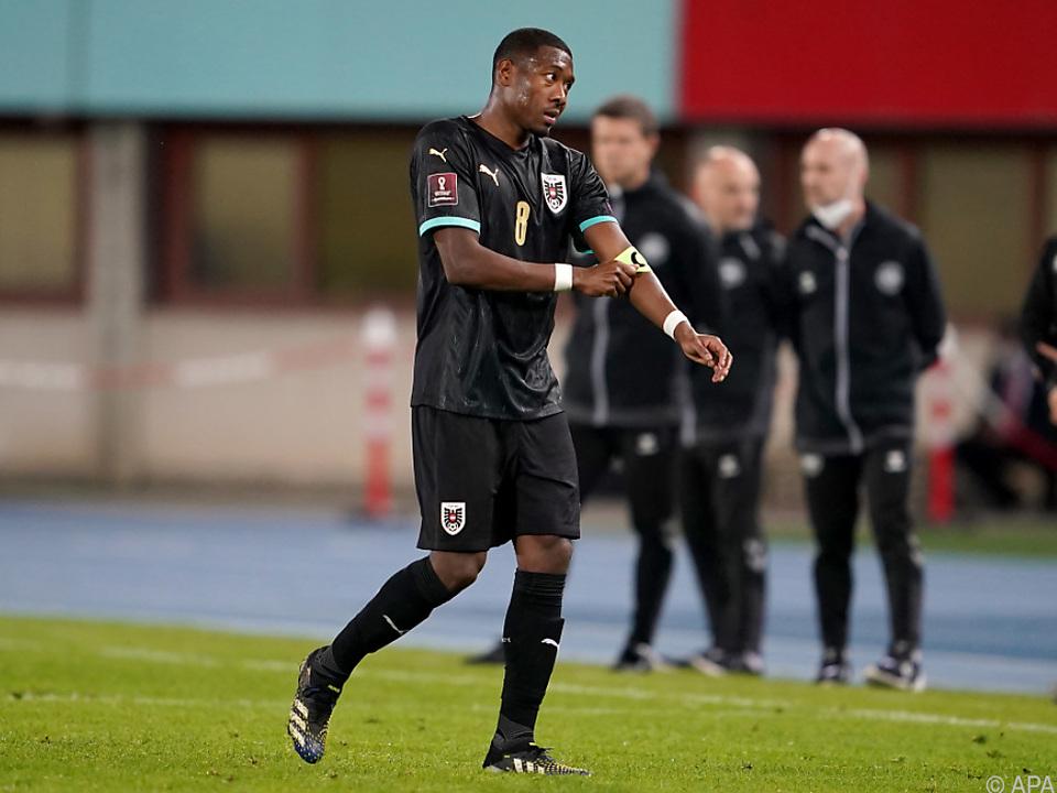David Alaba verließ das Spielfeld mit hängendem Kopf