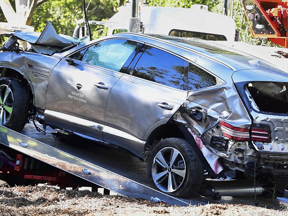 Der Unfallwagen des Golf-Superstars