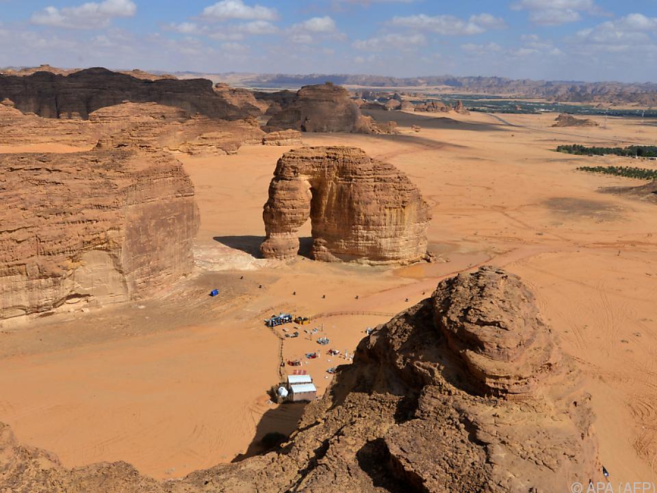 Die Ula-Wüste bei Al-Ula ist erster Schauplatz der Extreme-E-Rennserie