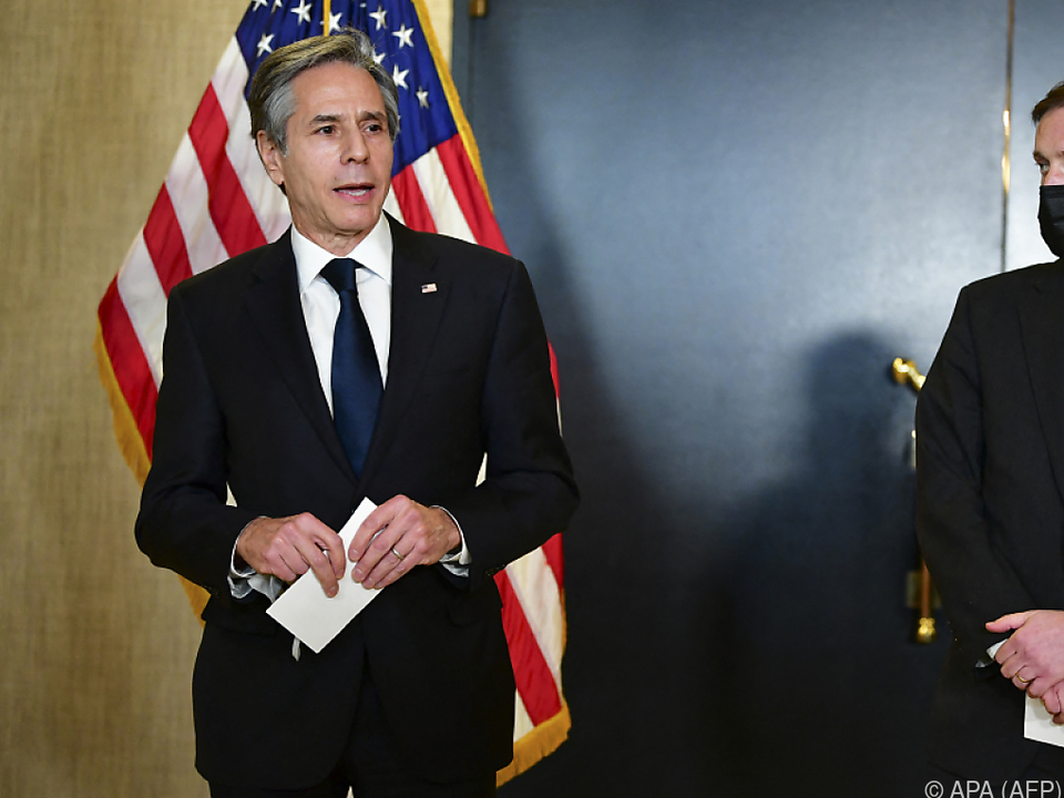 Die US-Verhandler Blinken (l.) und Sullivan nach dem China-Treffen