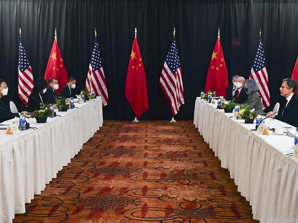 Die zweitägigen Gespräche USA - China diese Woche in Alaska