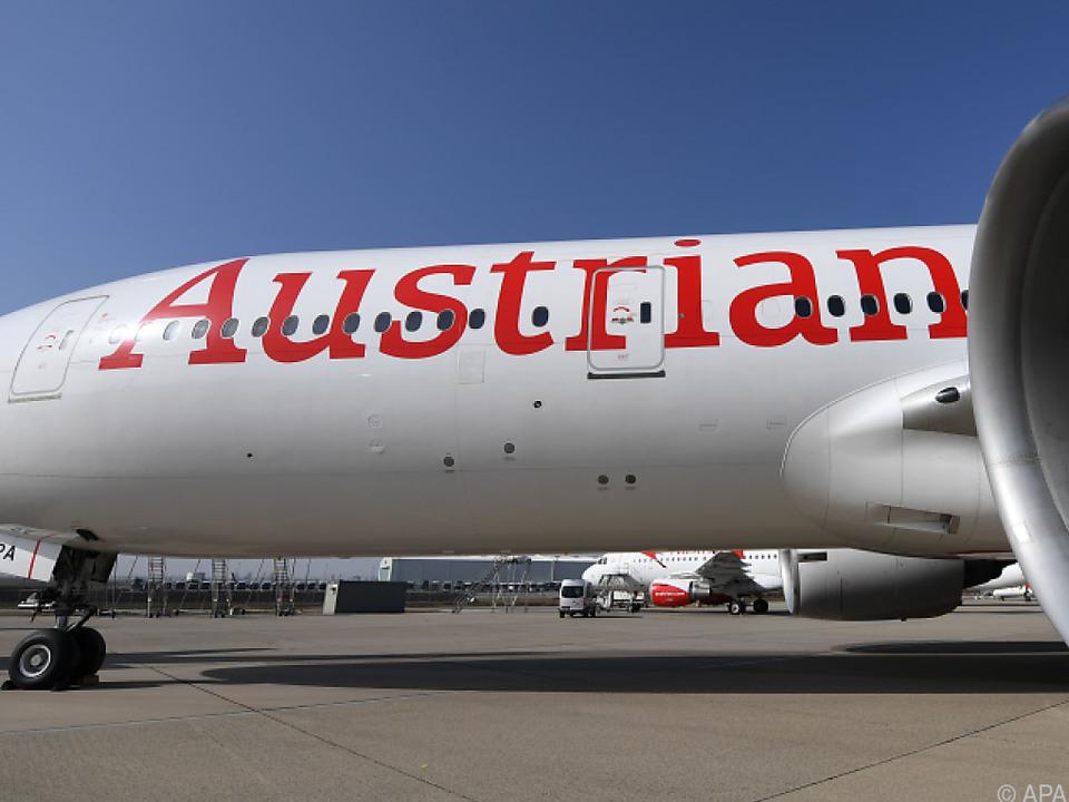 Ein Flugzeug der Austrian Airlines