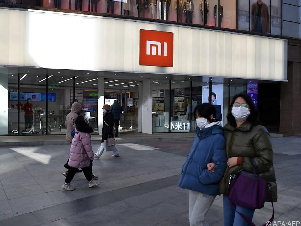 Ein Xiaomi-Geschäft in Peking