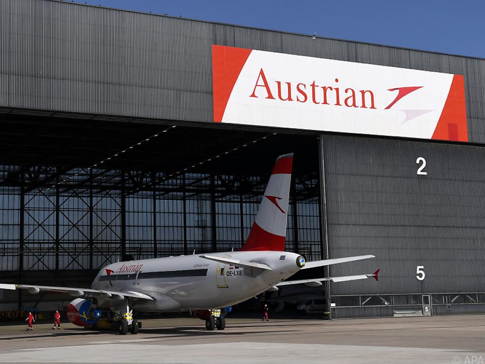 Eine Maschine der Austrian Airlines