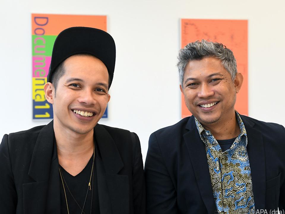 Farid Rakun und Ade Darmawan vom Künstlerkollektiv Ruangrupa