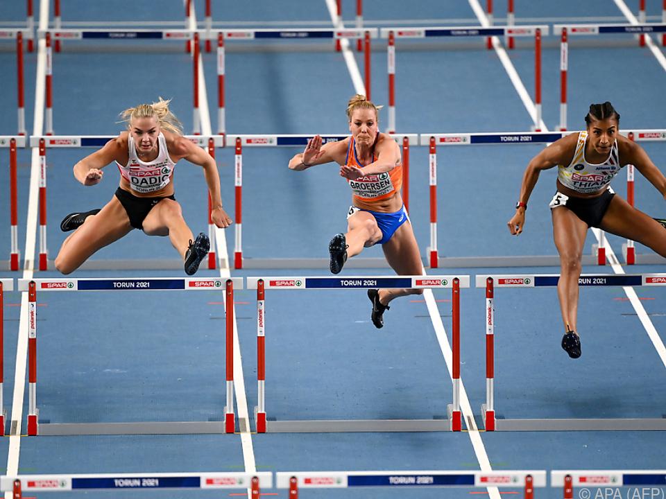 Fünfkämpferin Ivona Dadic (links) wurde EM-Vierte