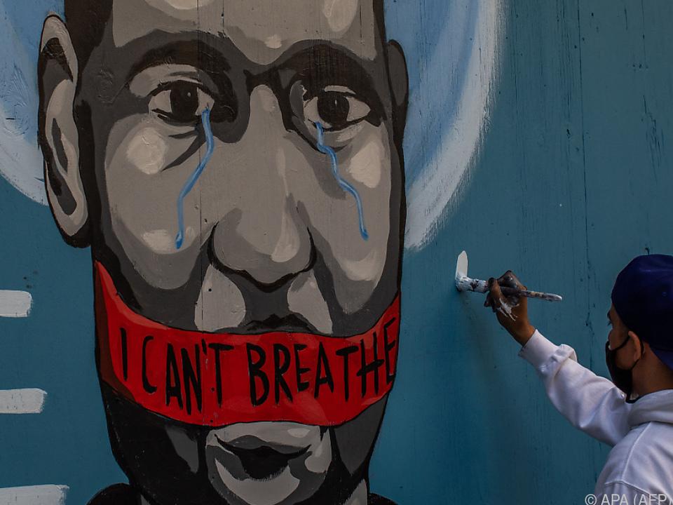 Getöter Afroamerikaner wurde zu Ikone von Anti-Rassismus-Protesten