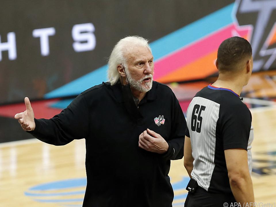 Gregg Popovich verliert mit den Spurs 102:107 gegen Oklahoma City