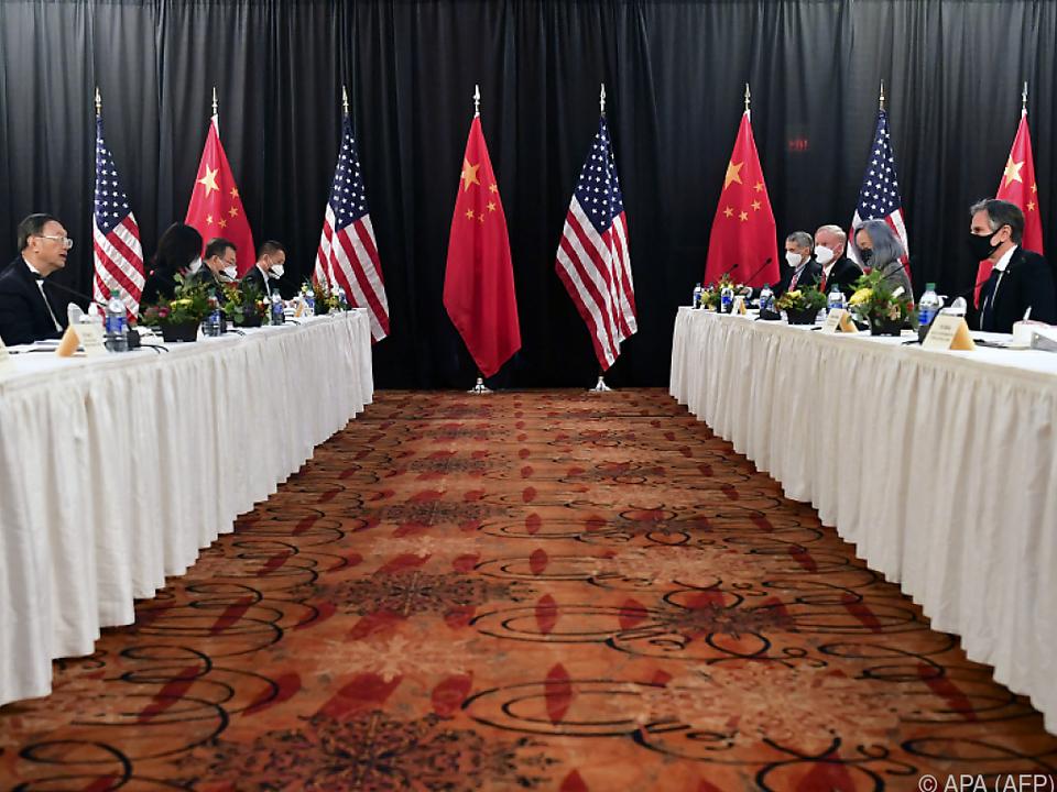 Harte Fronten bei den Gesrächen China - USA