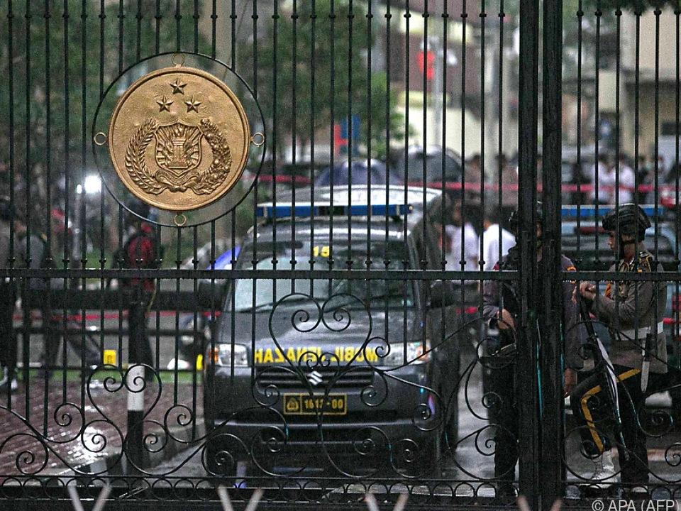 Hauptquartier der Polizei in Jakarta