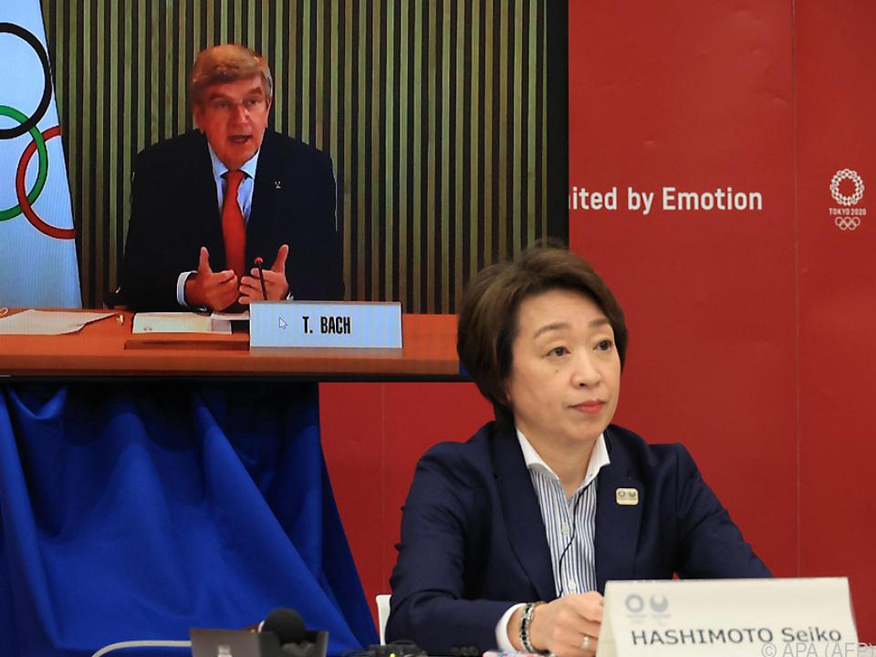 IOC-Chef Bach und Tokios OK-Chefin Hashimoto konferierten per Video