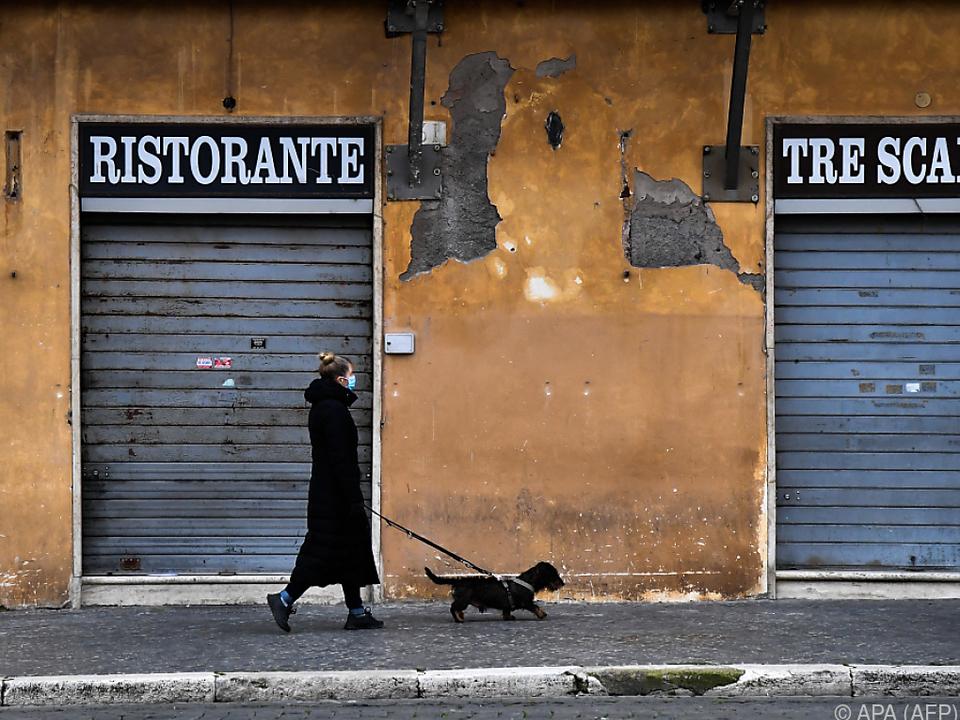 Italien nach wie vor hart von der Pandemie getroffen