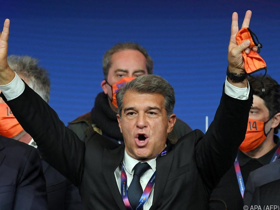 Joan Laporta wieder Präsident des FC Barcelona