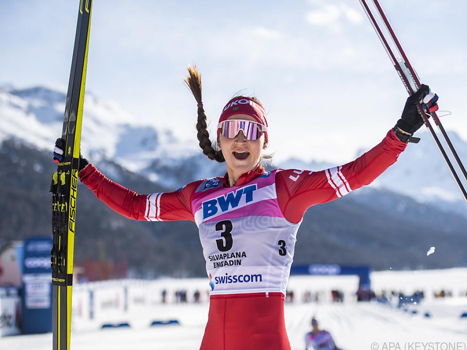 Julia Stupak gewann im Engadin über 15 km