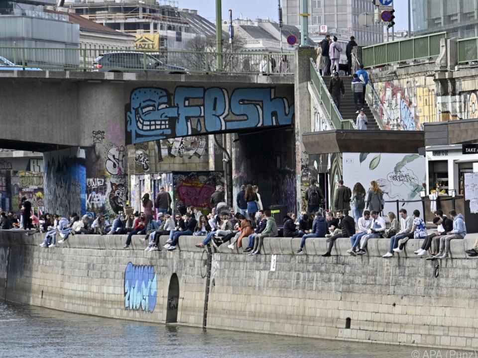 Keine Covid-Anzeigen dagegen bei Schwerpunkt am Donaukanal