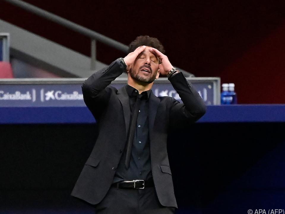 Konnte den späten Ausgleich Reals kaum fassen: Atletico-Coach Simeone