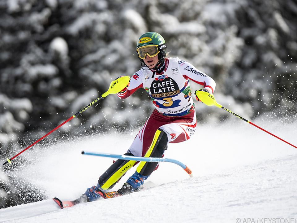 Liensberger machte die Slalom-Kugel perfekt