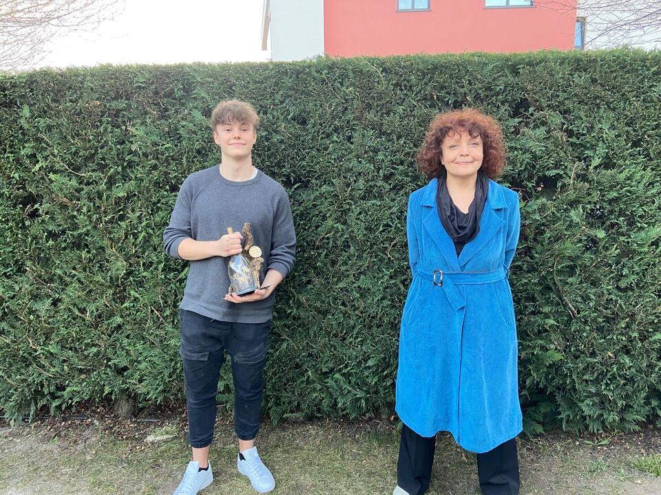 Moritz Anrater und MC Lene Morgenstern (c) Lene Morgenstern