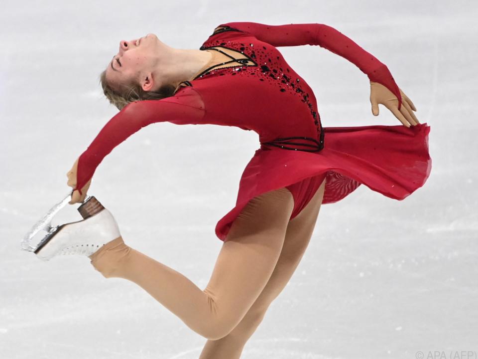 Olga Mikutina gelang mit Rang acht ein glänzendes WM-Debüt.