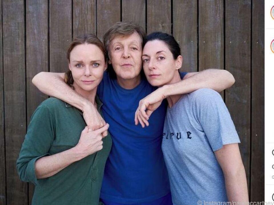 Paul McCartney macht mit seinen Töchtern Werbung auf Instagram