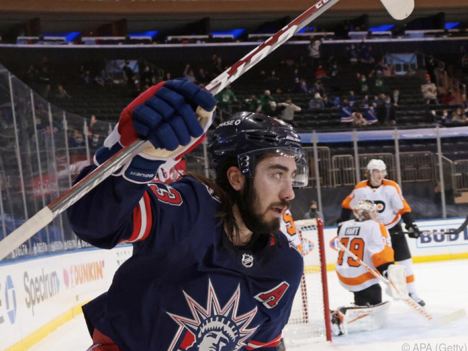 Rangers-Stürmer Zibanejad egalisierte NHL-Rekord