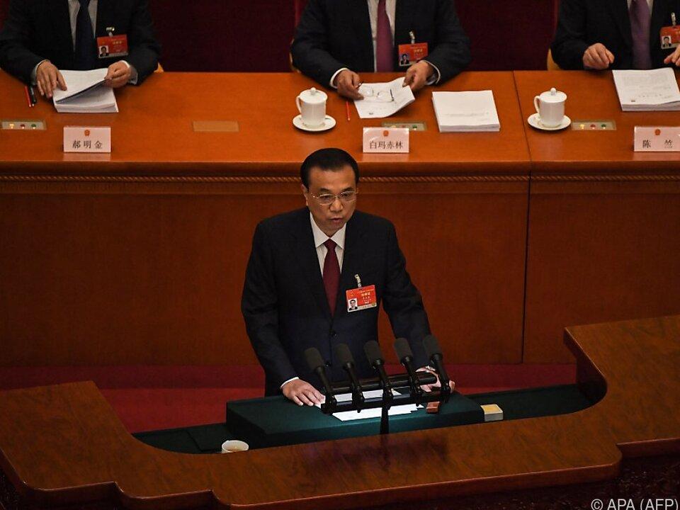Regierungschef Li Keqiang eröffnete Jahrestagung des Volkskongresses