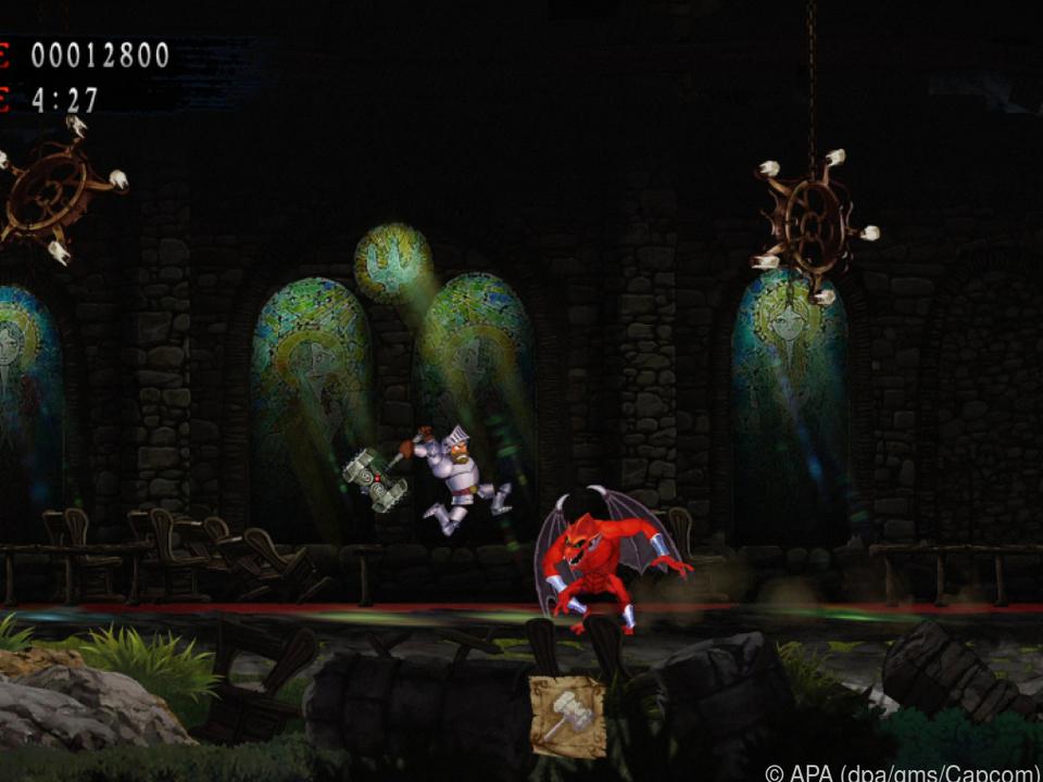 Ritter Arthur kann neben seinen Wurfwaffen nun auch mächtige Zauber einsetzen