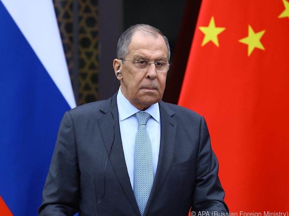 Russischer Außenminister streckt Hand Richtung China aus