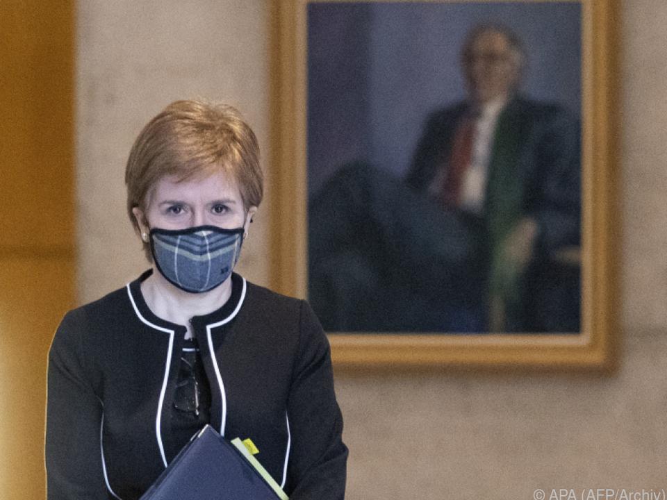 Schottlands Regierungschefn Sturgeon