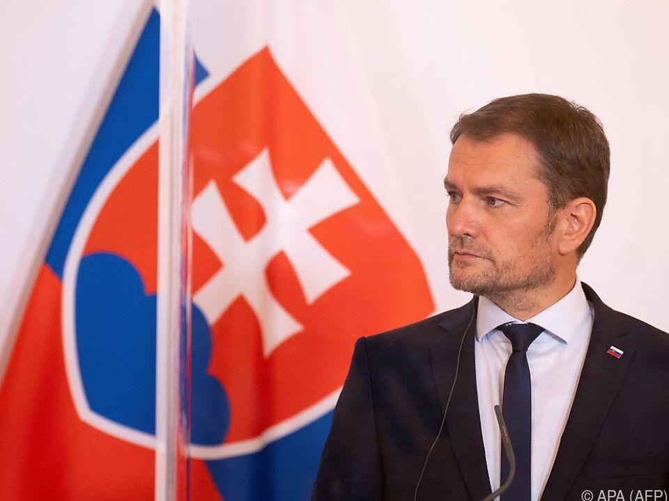 Slowakischer Premier Matovic bei einem Besuch in Wien