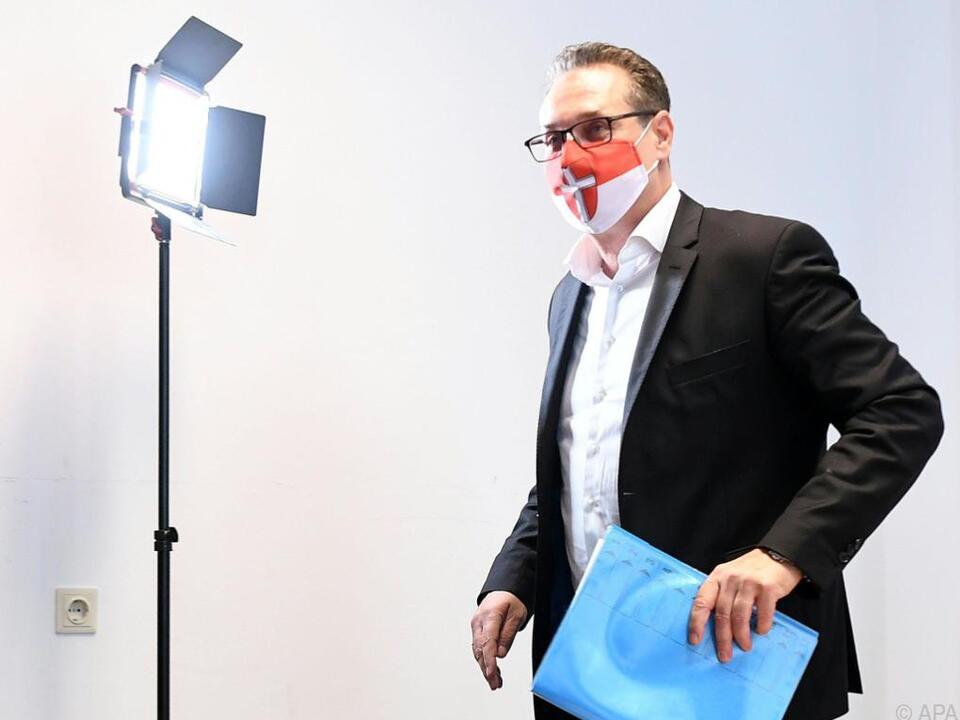 Strache wird vorgeworfen, Spende für Maskenfirma verwendet zu haben.
