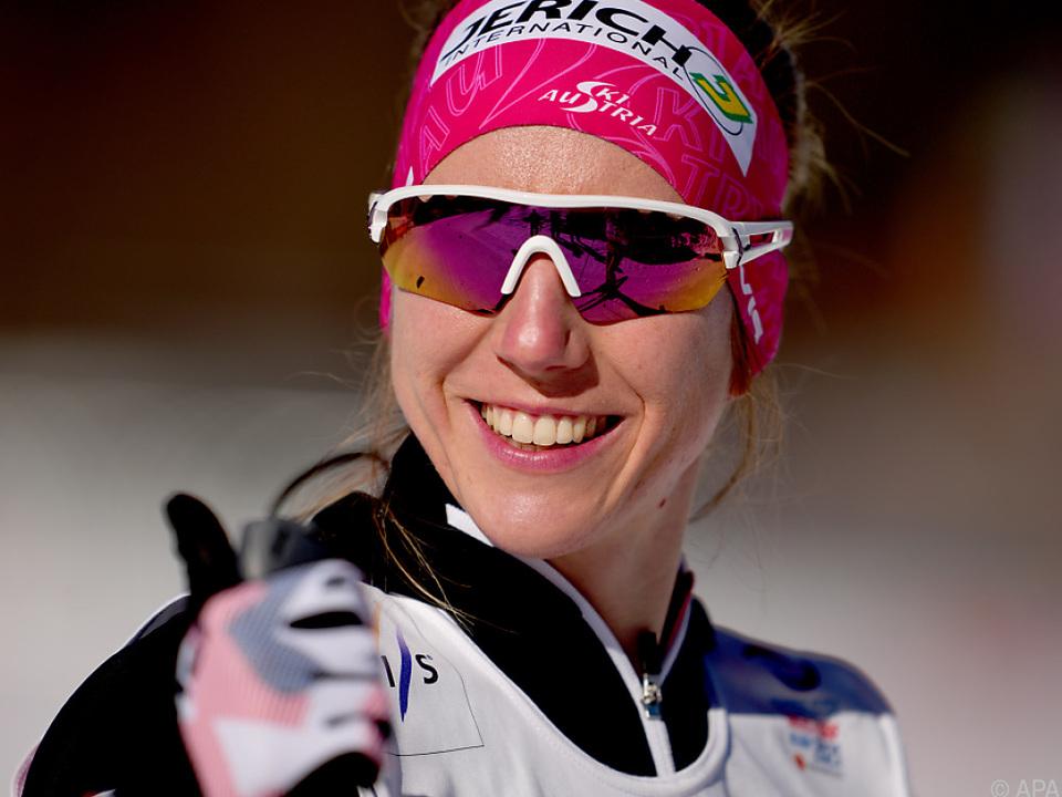 Teresa Stadlober beim Montag-Training: Mit Zuversicht in 10 km Skating