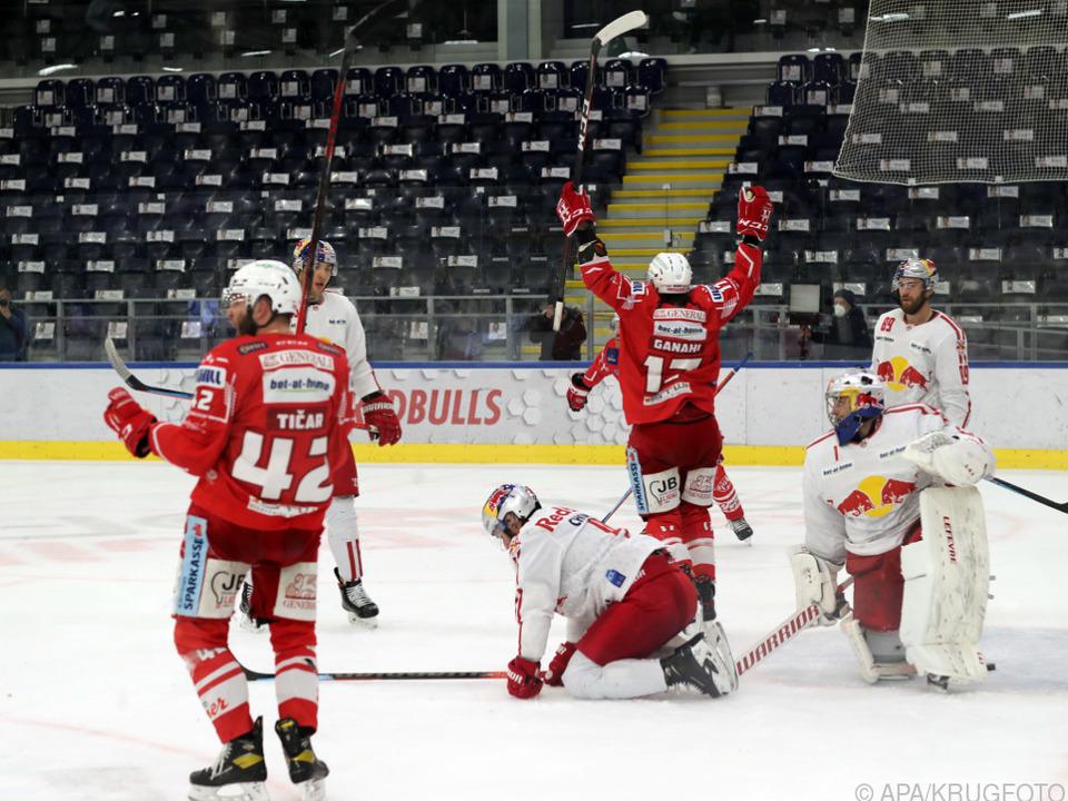 Ticar hatte mit dem Doppelpack großen Anteil am KAC-Sieg in Salzburg