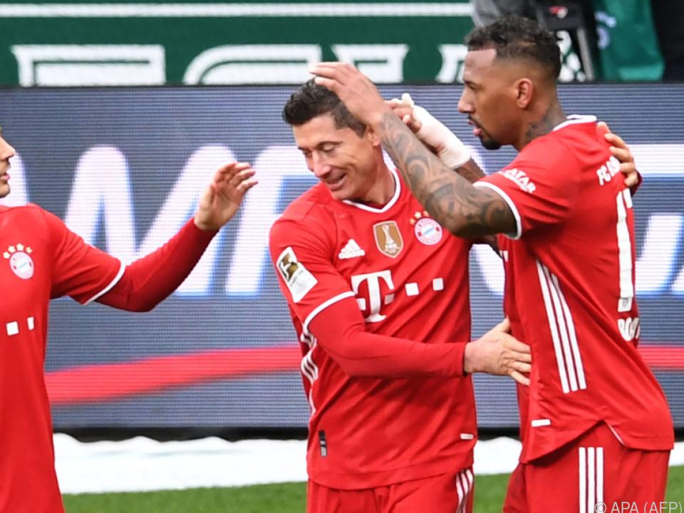 Torjäger Lewandowski traf wieder für die Bayern