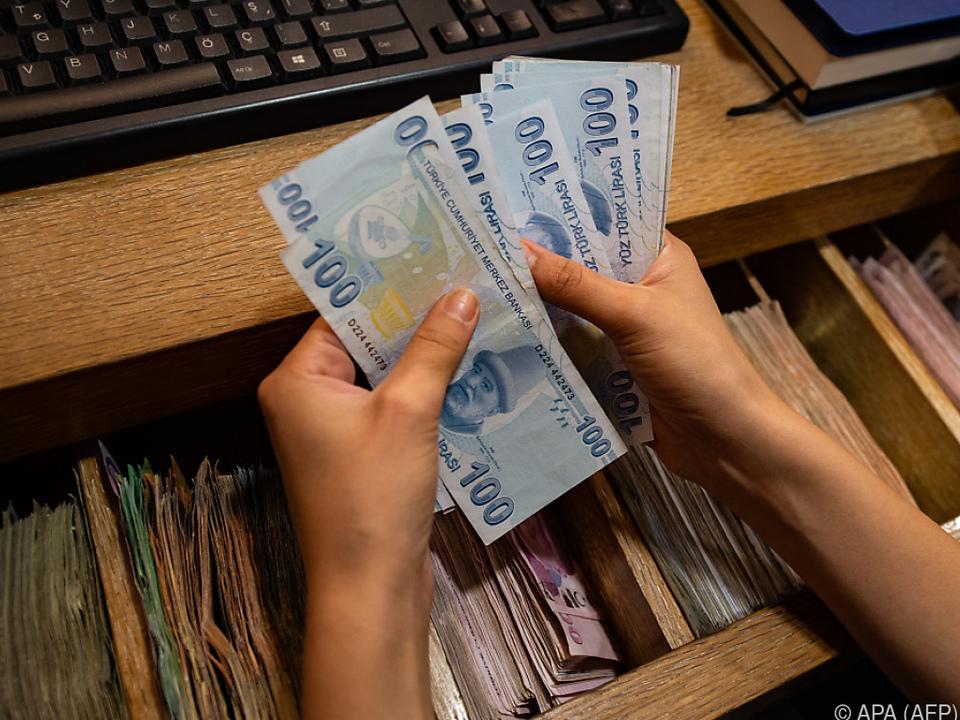 Türkische Lira hat wieder geringeren Wert