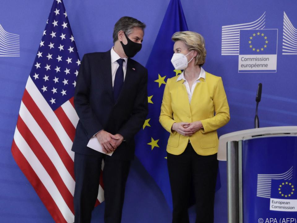 US-Außenminister Blinken besuchte EU-Kommission