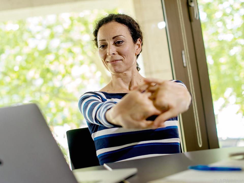 Während der Computerarbeit sind regelmäßige Pausen ratsam