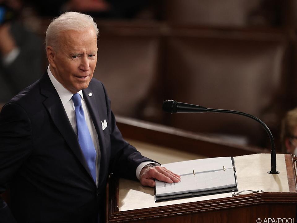 100 Tage nach Amtsantritt hielt Biden seine erste Rede im Kongress