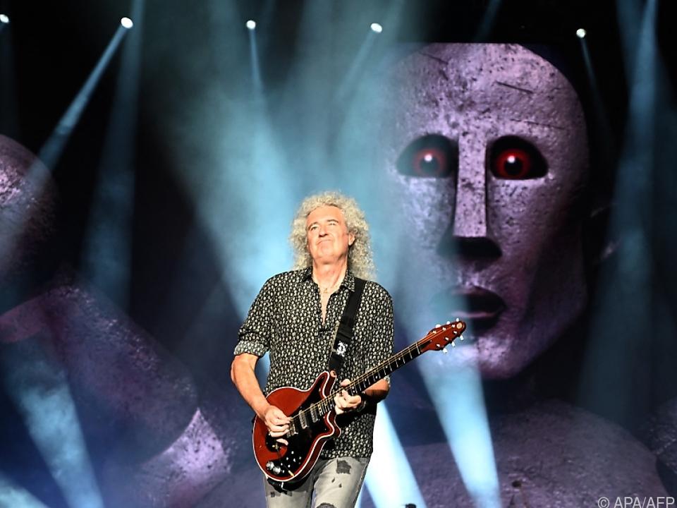 Brian May bei einem Auftritt mit Queen im Vorjahr in Australien