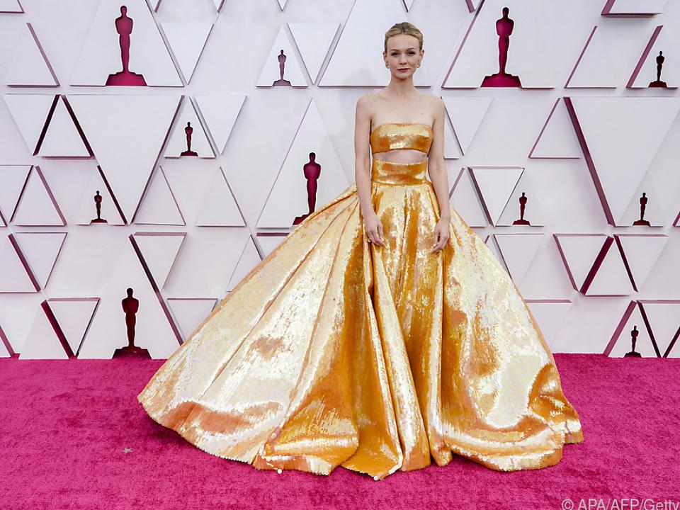 Carey Mulligan glänzte selbst wie ein Oscar